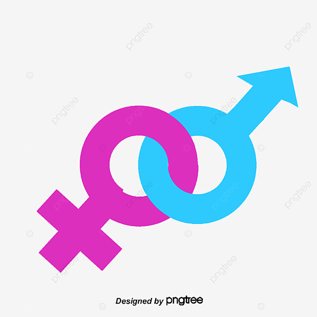 Male And Female Symbols Men And Women Symbol Overlapping Png And