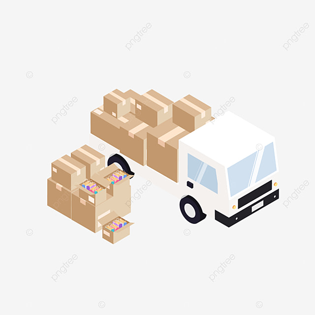 Logistics and transport patterns, Truck, Goods, Forklift PNG and Vector