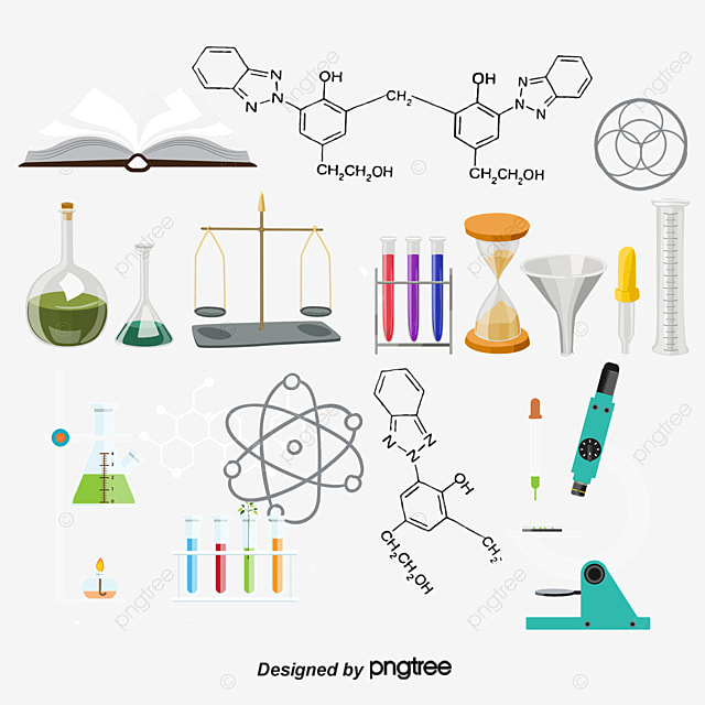 أدوات مختبر الكيمياء كيمياء مختبر أداة Png وملف Psd للتحميل مجانا