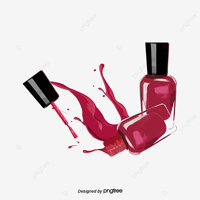 Rose Red Nail Polish Makeups Nail Polish Rose Red Png Transparent Clipart Image And Psd File
