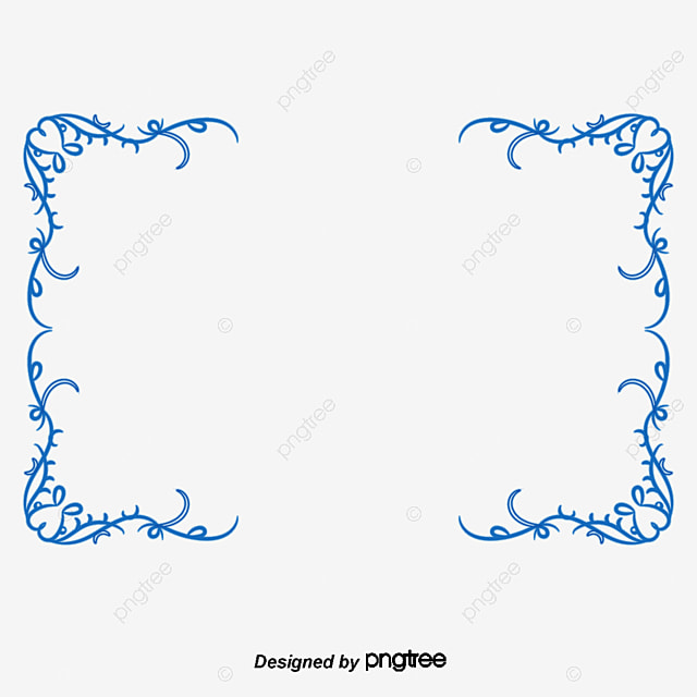 Europe And The United Simple Blue Border Frame PNG PSD