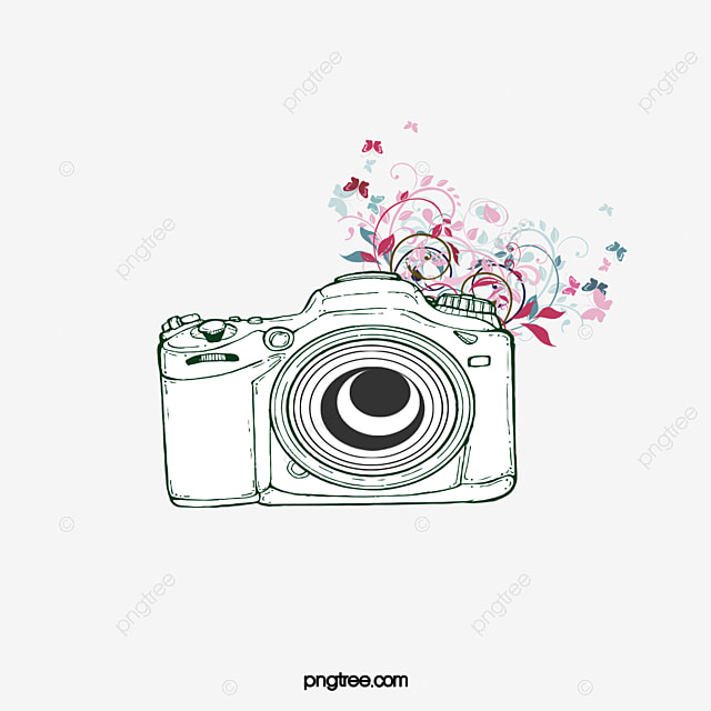 C mera de flores animal excelente padr o png e vector for Camera blueprint maker gratuito