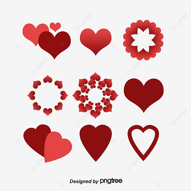 corazones corazones el icono de corazon decoracion