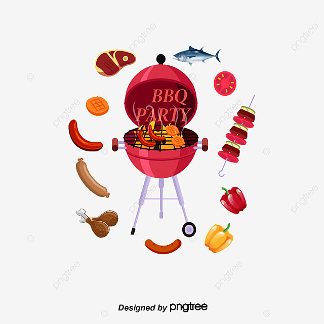 cartoon bbq cartoon barbecue skewers png and vector for free download