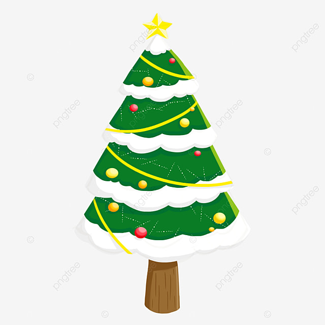 Christmas Tree, Tree Clipart, Twinkling Star, Brilliant