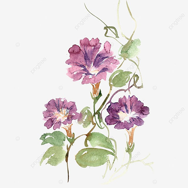 Fantasy Purple Flower Transparent Background Dream Purple
