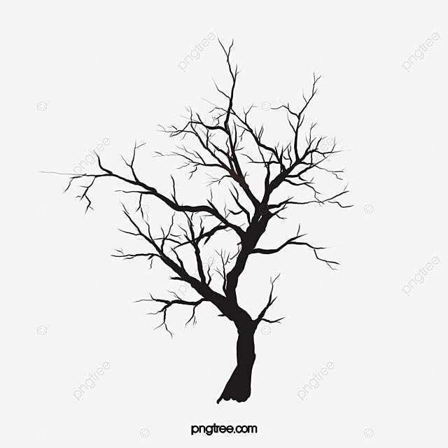 Toter Baum Ohne Blatter Vektor Illustration