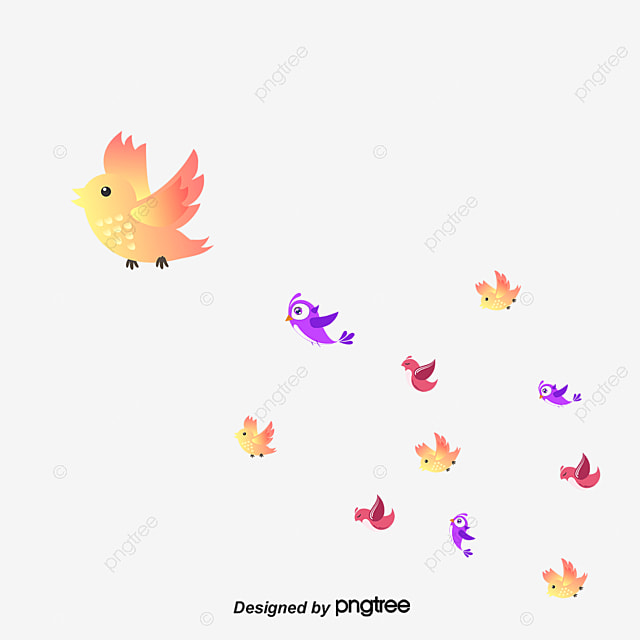 Group Of Birds Migrant Fly Png And Psd File For Free