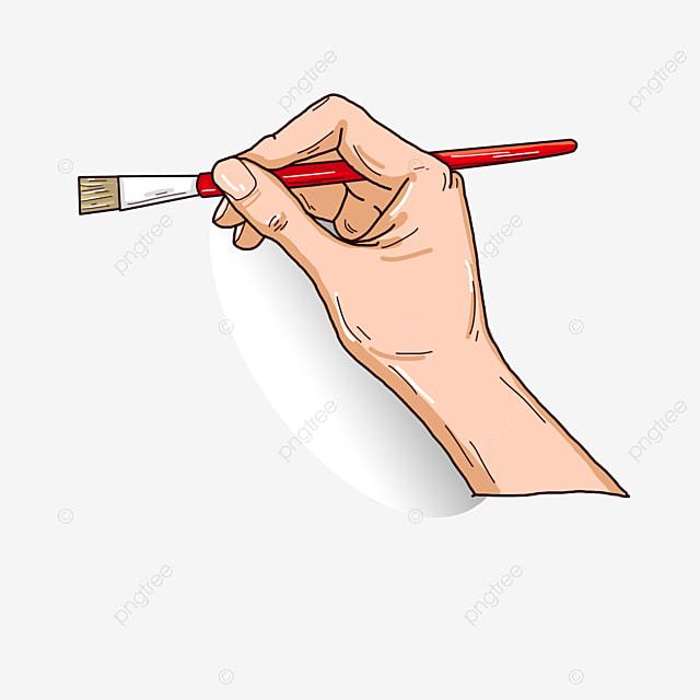 la main de la brosse brosse brosse dessiner image png pour