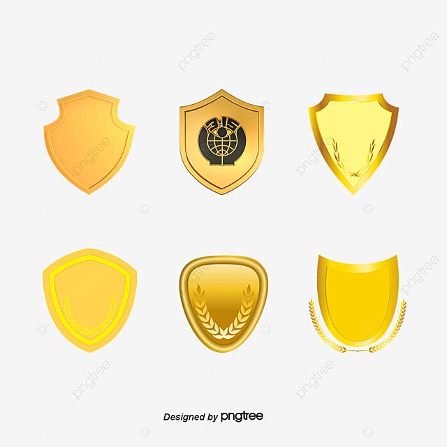 Golden Shield Shield Gold Label Golden Badge Shield Vector Gold