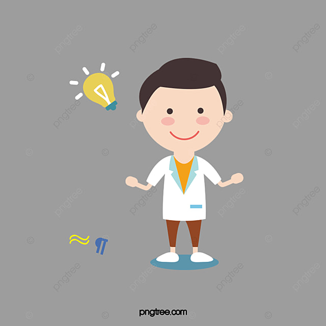 the scientist  chemistry  cartoon png and vector with