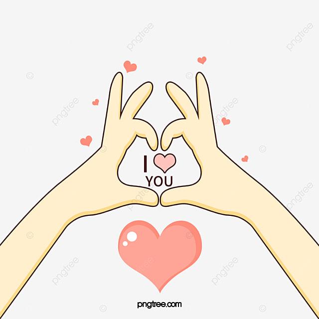 I Love You Valentine Float Gesture Love Clipart Cute Cartoon
