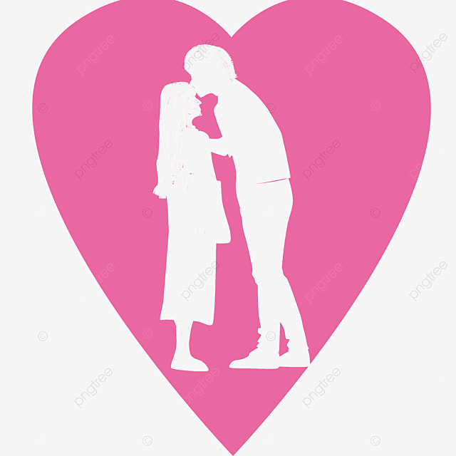 Couple Silhouette Black Silhouette Marry Lovers Png