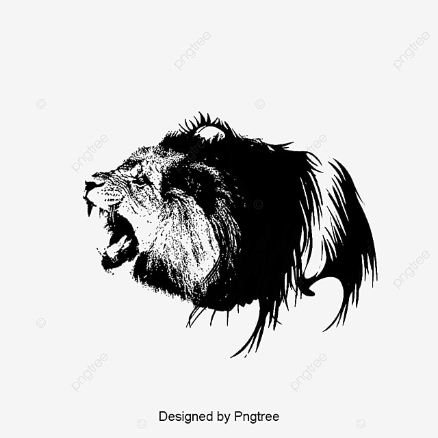painted lion lions head lion png and vector for free