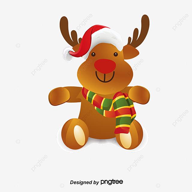 Dibujos animados de navidad renos elementos de navidad for Dibujos de renos en navidad