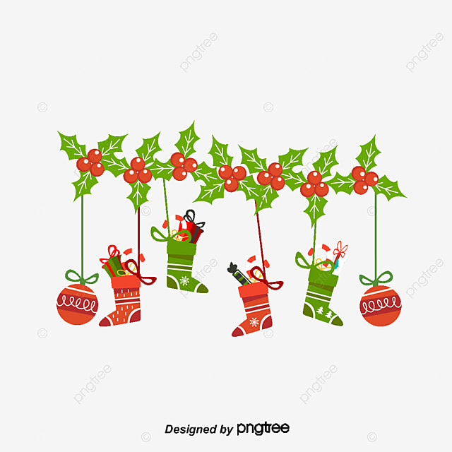 Cartoon christmas ornaments vector material