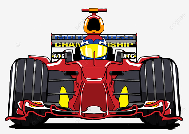 Checkered Flag And Racing Clipart Hand Painted PNG Image