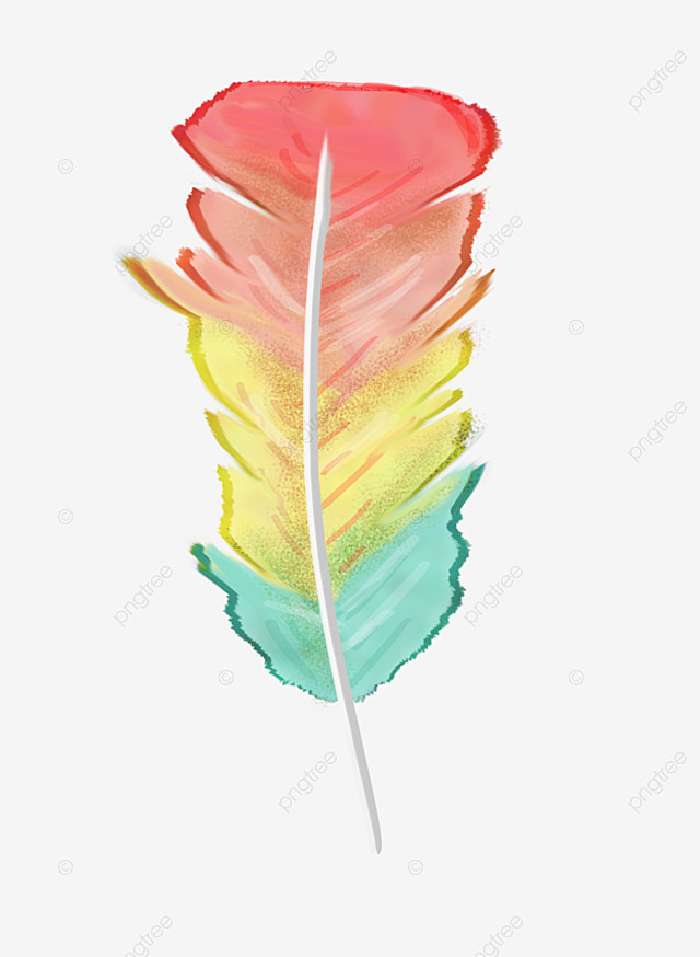 feather, Colored Feathers, T-shirt Design PNG Image