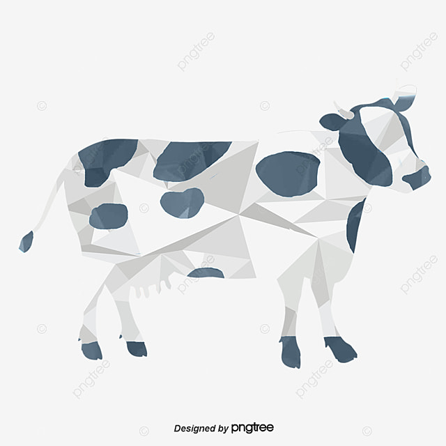 Cows Origami Dairy Cow Puzzle PNG And Vector