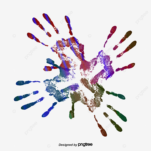 color paint handprint  color vector  paint vector  color