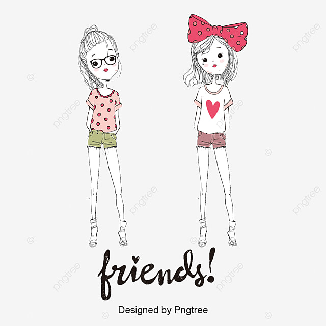 best friends girl friend decoration png and vector for free