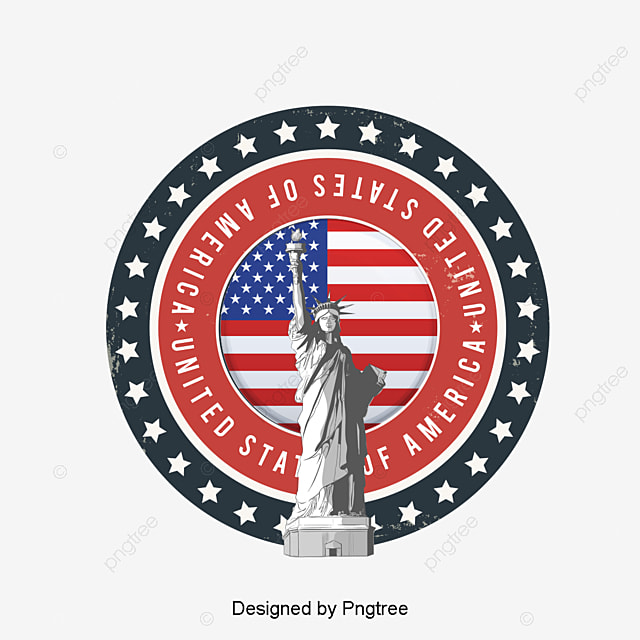 Hand Painted American Flag Eagle Decorative Background Flag Clipart