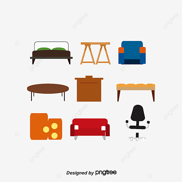 Furniture Vector Furniture Bed Cabinet Png And Psd File For Free