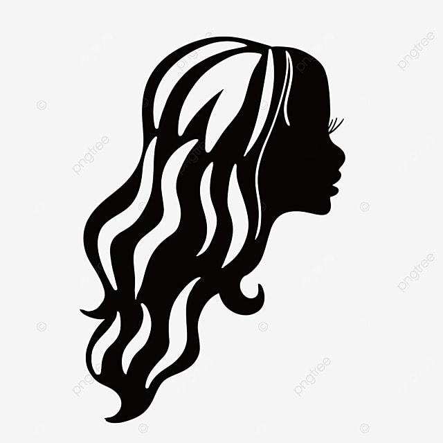 la femme du c u00f4t u00e9 de la silhouette vecteur la femme de face