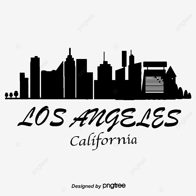 los angeles city silhouette city city png and vector for free