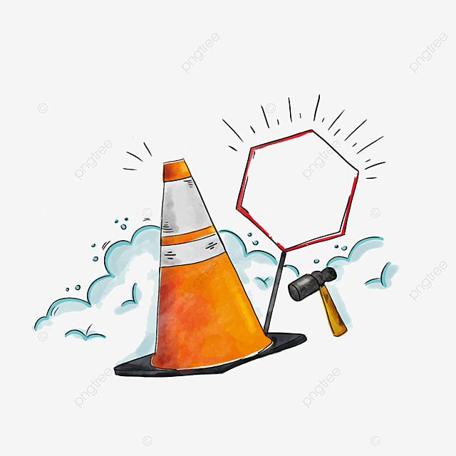 safety signs road construction material safety clipart