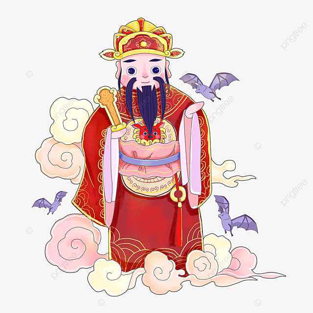 Gong Xi Fa Cai God Of Wealth Idol Gold Ingot Png And Vector