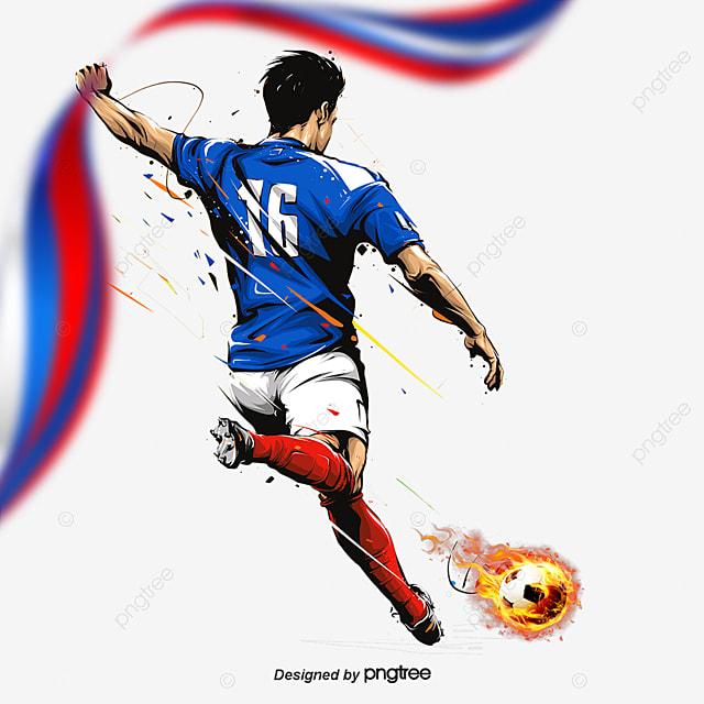 O jogador de Futebol Download, Vector, A Copa Do Mundo, Pintados à MãoImagem PNG