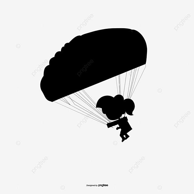 O p ra quedas o p ra quedas o p ra quedas silhueta de p ra - Dessin parachutiste ...