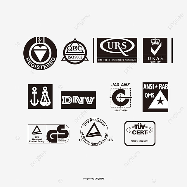 Certification Mark,qs,emc,ce,iso9002,gs,black And White Logo ...