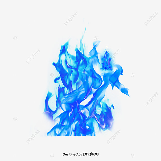 Blue Fire, Flame, Blue, Creative Effects PNG Transparent