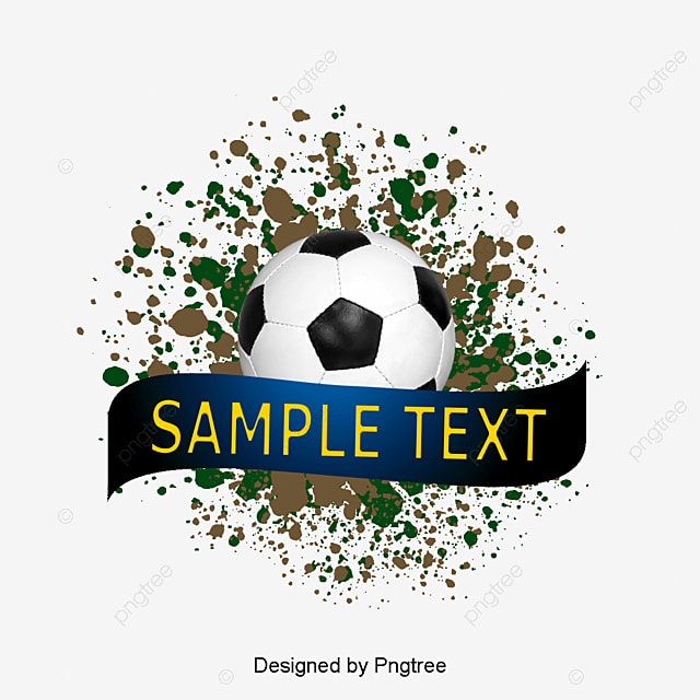 Football Soccer Ball Goal Net Water Color Ink Ink Ink Splash Football Vector Png And Vector