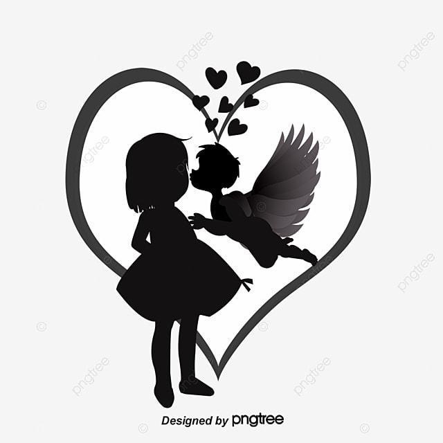 dessin de couples de silhouette l amour la saint valentin des personnages de dessins anim u00e9s