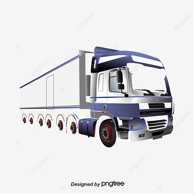 cartoon truck trailer truck clipart freight