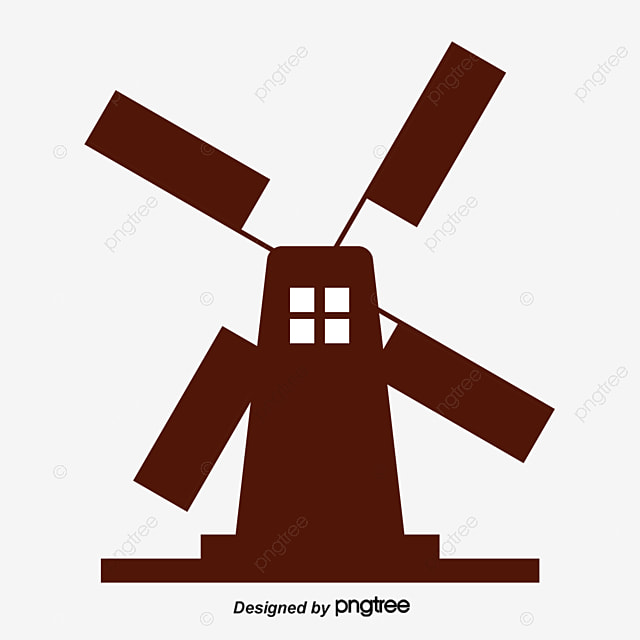 windmill windmill silhouette pastoral windmill png and vector for
