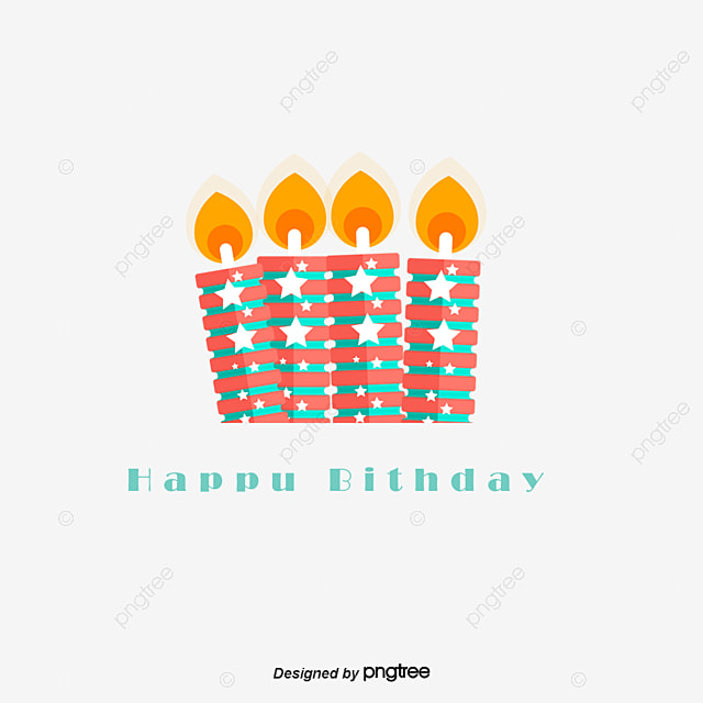 Cartoon Happy Birthday Candles Background Clipart Polka Dot Lovely PNG And PSD