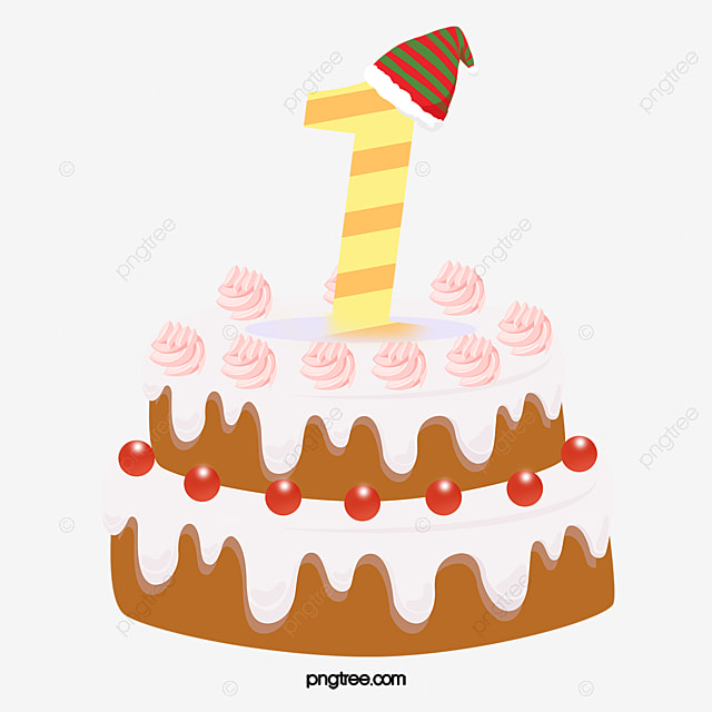 First Birthday Cake Clipart One Year Old PNG Image And