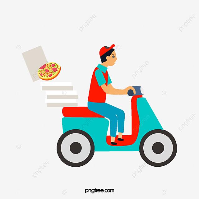 El Repartidor De Pizza, Entrega De Pizza, Paseo De Los Vehículos ...