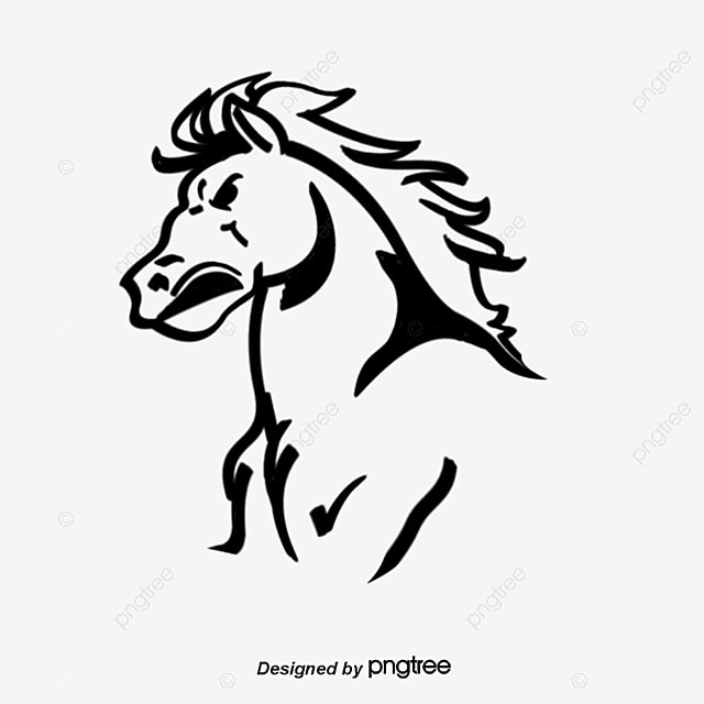 Horse S Avatar Horse Head Portrait Horsehead Png And Vector For