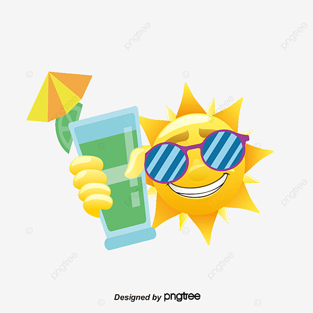 Summer sun design vector material, Summer, Sun, Vector Elements PNG and Vector