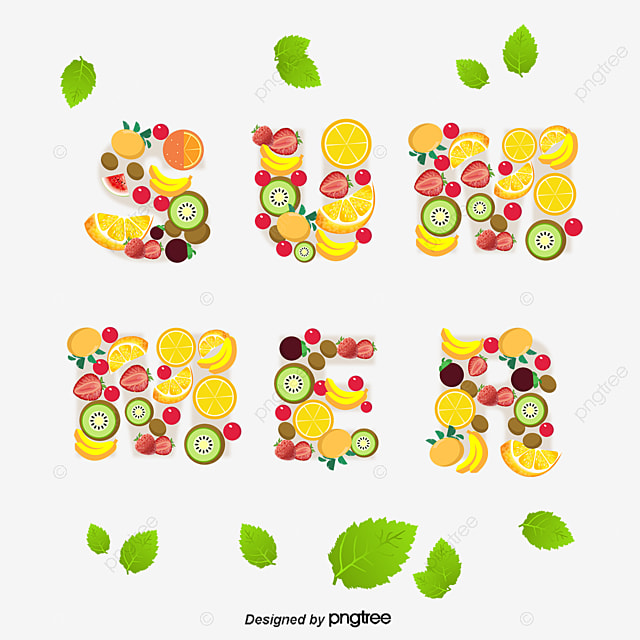 summer fruit Fonts, Summer, Summer, Font PNG and Vector