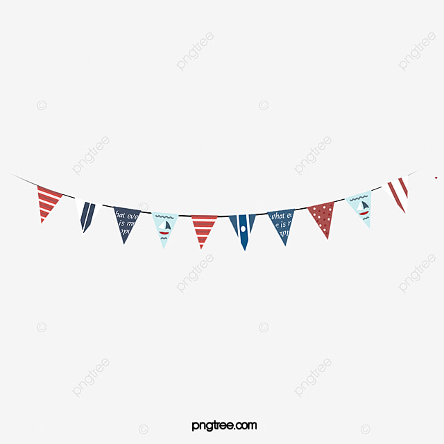 Navy wind pennant, Red And Blue, Navy, Style PNG Image