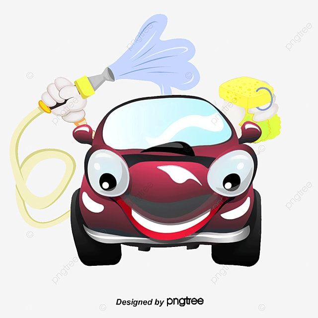 Cartoon Car Cartoon Compact Car CAR WASH PNG And Vector For Free Download