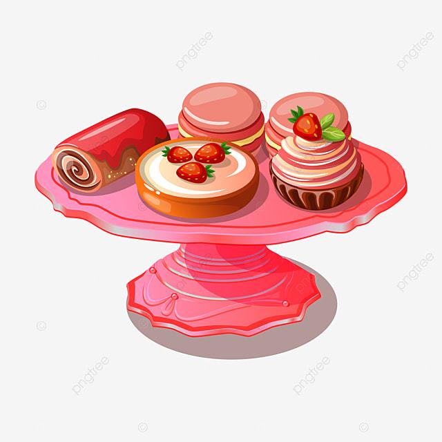 Beautiful Exquisite Cartoon Birthday Cake Line Cartoon Clipart