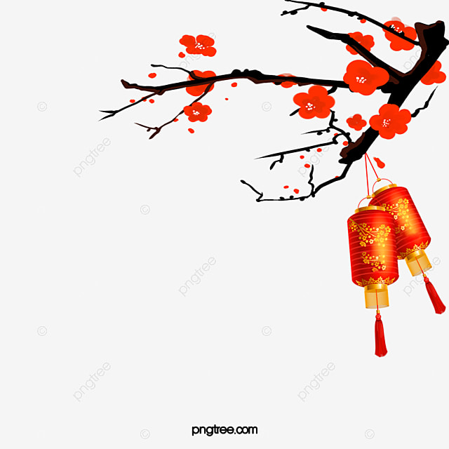 plum red lanterns background pattern new year chinese new year 2017 png and