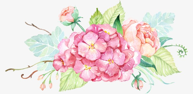 Small Fresh Painted Watercolor Flower Decorative Small